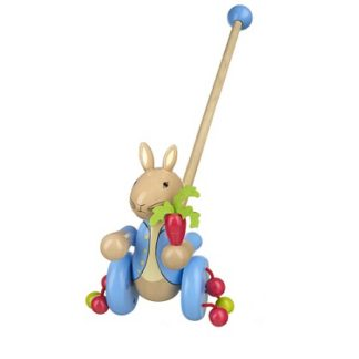 boys first birthday gift, peter rabbit pushalong