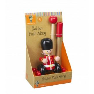 London Soldier push along toy boxed in baetrix Potter presentation packaging