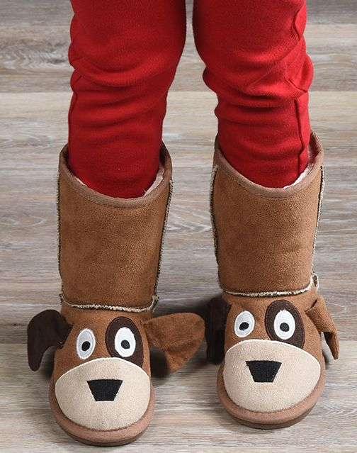Dog Boots | Childrens Fleece boots | Faux Suede | My