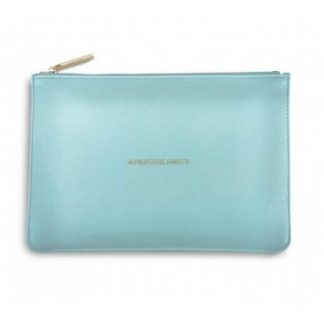 adventure-awaits-pouch, metallic aqua, Katie Loxton