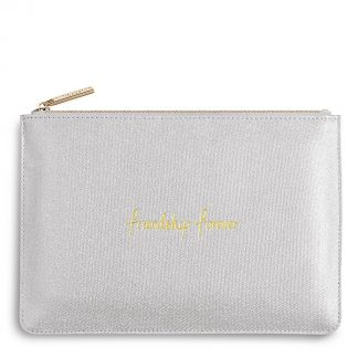 Katie Loxton Friendship first perfect pouch shimmering silver