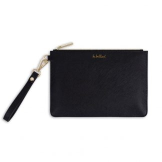 katie-loxton black-secret-message-pouch-be-brilliant-she-believed-she-could-so-she-did-in-black