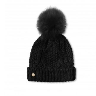 Katie Loxton Black Bobble Hat