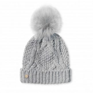 Katie Loxton Grey Bobble hat