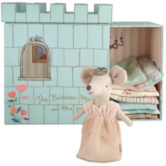 maileg Mouse Princess and the Pea boxed princess