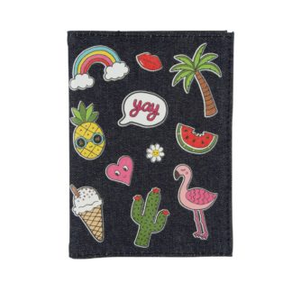 Sass and Belle Patched Passport Cover