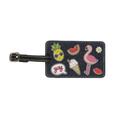 Sass and Belle Patches Luggage Tag