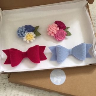 Jess flower hair clips, girls hair clips and hairbows