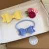 Rose yellow and blue felt hair acessories